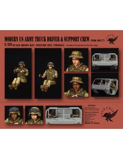 VALKYRIE MINIATURES, VM35015, Modern US Army Truck Driver & Support Crew for M977 (2 Figures) in scale 1:35
