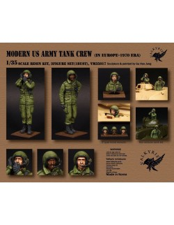 VALKYRIE MINIATURES, VM35017 Modern US Army Tank Crew in Europe - 1970 Era (2 Figures and 1 Bust) in scale 1:35