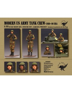VALKYRIE MINIATURES, VM35026 Soviet Army Tank Crew - 1950 ~ 60 Era (2 Figures and 1 Bust) in scale 1:35