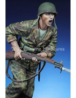 """ALPINE MINIATURES 16018,  """"The Charge"""" USMC 1943/44 (1 figure), SCALE 1:16"""