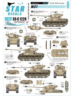 Star Decal 35-C1226, Israeli AFVs  9. M51 Super Sherman. 1967 Six-day war, 1/35