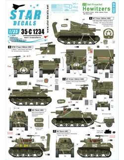 Star Decal 35-C1231, US M4A1 75mm Sherman. 75th-D-Day-Special.Normandy and, 1/35