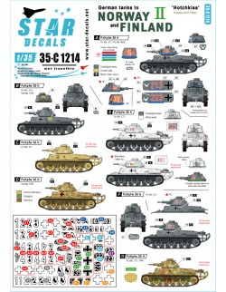 Star Decal 35-C1214 German tanks in Norway & Finland SET NO II Beute-Hotchkiss, 1/35