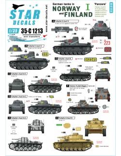Star Decal 35-C1213 German tanks in Norway & Finland SET NO I Pz I Ausf B, Kl, 1/35