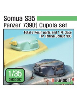 DEF. MODEL ,DM35067, Somua S35 Panzer 739(f) Cupola set (for 1/35 Tamiya Somua S35),1:35