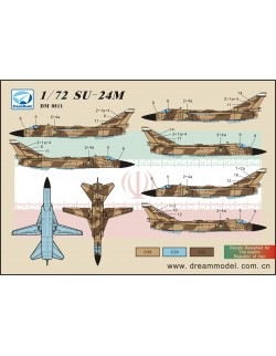 MiG-29A 'Fulcrum' (Izdeliye 9.12) in Russ- DECAL SET, DM0810, Dream Model, 1:72