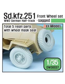 DEF.MODEL, DM30037, German Sd. kfz.251 Half-Track Sagged Front Wheel set , 1:35