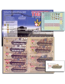 ECHELON FD AXT481002, 1/48 DECALS FOR Schwere Panzerabteilung 505 Tiger IIs
