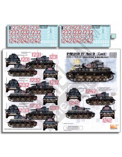 ECHELON FD AXT351029 , 1/35 Decals for Pz.Rgt. 6 Panzer IV Ausf D (Tauch)