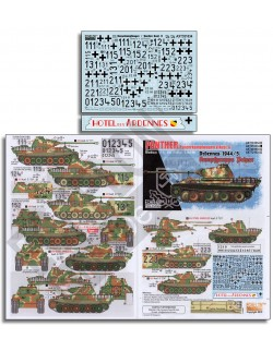 ECHELON FD AXT351034, Decals for 1. SS-Pz.Rgt. Panthers Ardennes 1944/45 K, 1/35