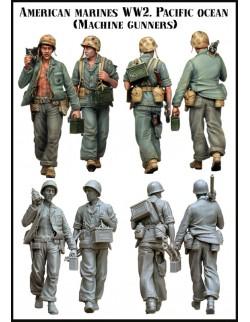 Evolution Miniatures 35041, American Marines WW2 Pacifik Ocean (Machine Gunners), SCALE 1:35
