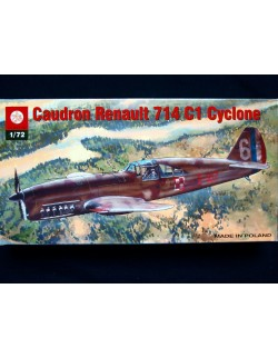 CAUDRON C.714 , FRENCH AIR FORCE FIGHTER, ZTS PLASTYK, SCALE 1/72