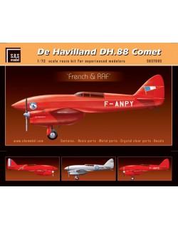 S.B.S Models, 1:72, 7003, De Havilland DH-88 Comet 'Red & Green' full resin kit