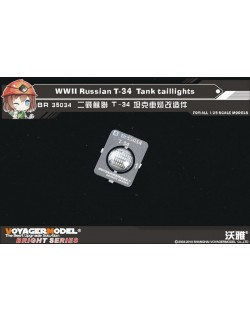 BR35034, PE FOR WWII Russian T-34 Tank taillights, VOYAGER 1:35