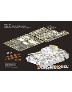 351042, PE for WWII German Pz.Kpfw.IV Ausf.F2 Basic(For Border BT-003), VOYAGERMODEL 1/35