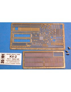 PE for for SOVIET KV-2 - fit for all Trumpeter versions, ABER 35191, SCALE 1/35