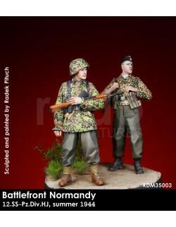 Rado Miniatures, RDM35003, 12.Pz.Div.HJ Normandy, Summer 1944 (2 Fig.), 1:35