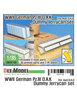 DEF. MODEL ,DM35107, WWII German Pz.III 5cm barrel with canvas cover (for Academy/Dragon),1:35