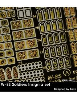 Rado Miniatures, RDM35PE01, WW2 W-SS Insignia set-photo etched upgrade kit, 1:35