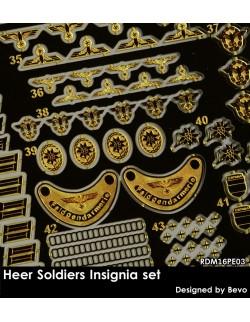 Rado Miniatures, RDM16PE03, WWII German Soldiers Insignia - PE upgrade kit, 1:16