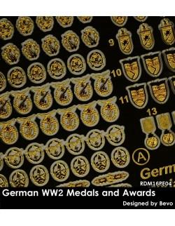 Rado Miniatures, RDM16PE01, WWII Ger. W-SS Insignia - PE upgrade kit, 1:16
