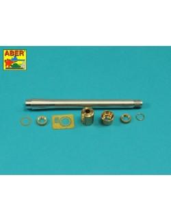 7,5cm gun barrel w/single baffle muzzle brake for Tiger I, H2, ABER 35L304, 1:35