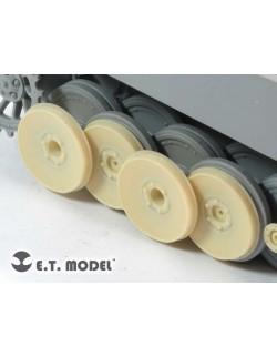 Damaged Road Wheels for Tiger I Early Ver. (For DRAGON), ER35-032 ETMODEL, 1/35