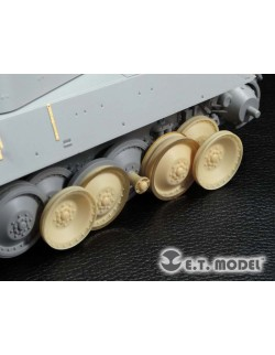 Damaged Road Wheels for Panther A/G Version (For DRAGON), ER35-036 ETMODEL, 1/35