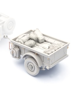 SOL RESIN FACTORY cat.no.MM334, WWII U.S.ARMY T-3 Trailer , SCALE 1:16