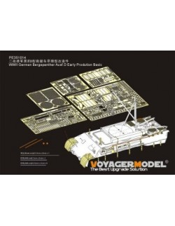351014, PE FOR WWII German Bergepanther Ausf.D Early Prodution Basic(For TAKOM 2102), VOYAGER 1:35