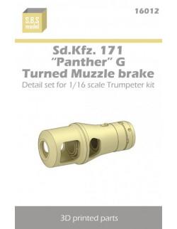 S.B.S Models, 1/16, 16012, Sd.Kfz. 171 'Panther' G Muzzle brake - Turned