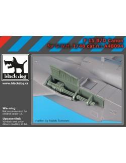 A48094, SCALE 1/48 F-15 B/D canon , BLACK DOG, 1:48