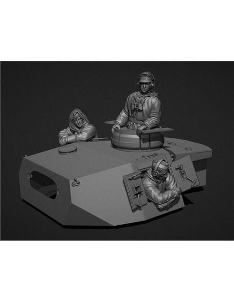 PANZER ART, FI35-099 German Panzerjacke turret crew (PzIII, PzIV tanks) 3 FIGURES, 1:35