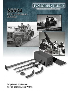 35534 IDF jeep with Mg 34, SCALE 1:35 FC MODEL TREND