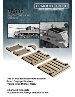 35477 Pedestal for Horch 108 Typ a & Flak 38, SCALE 1:35 FC MODEL TREND