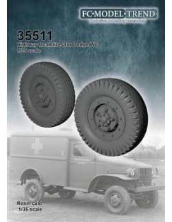 35511, Dodge WC, highway pattern tires, SCALE 1:35 FC MODEL TREND