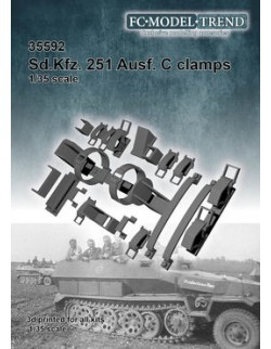 35592 Sd.Kfz. 251 Ausf. C clamps, SCALE 1:35 FC MODEL TREND