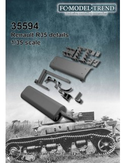 35594 Renault R-35 tool clamps and exhaust, SCALE 1:35 FC MODEL TREND