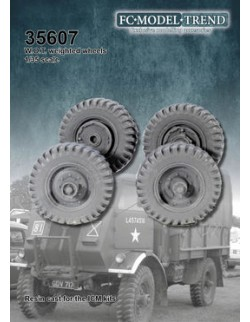 35607 W.O.T. Weighted wheels, SCALE 1:35 FC MODEL TREND
