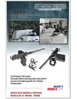 35555 M2 Browning articulated mount for M8 greyhound, SCALE 1:35 FC MODEL TREND
