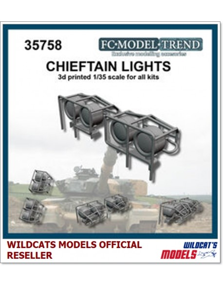 FC MODEL TREND 35758, Chieftain lights, 3d printed - for ALL, 1/35