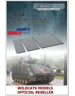 FC MODEL TREND 35784, M113 mesh grilles, 3d printed, - for ALL, 1/35