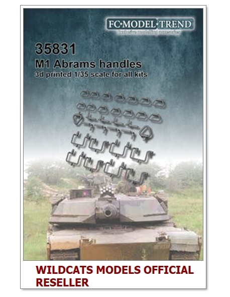 FC MODEL TREND 35831 M1 Abrams, handles and levers, 3d printed, - for ALL, 1/35