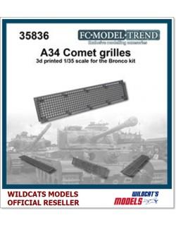 FC MODEL TREND 35836, Comet mesh grille, 3d printed, - for BRONCO, 1/35