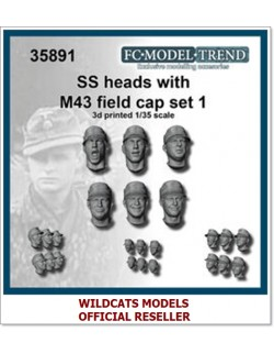 FC MODEL TREND 35891, SS heads with M-43 cap. Set 1, 3d printed, 1/35