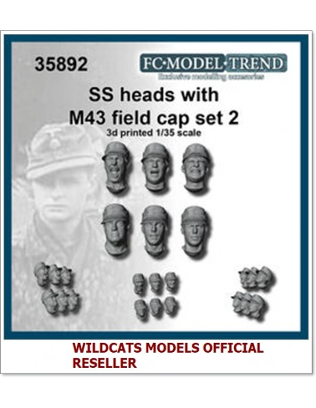 FC MODEL TREND 35892, SS heads with M-43 cap. Set 2, 3d printed, 1/35