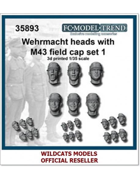 FC MODEL TREND 35893, Wehrmacht heads with M-43 cap, 3d printed, 1/35