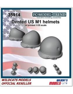 FC MODEL TREND 35914, Dented U.S.A. helmet, 3d printed, 1/35