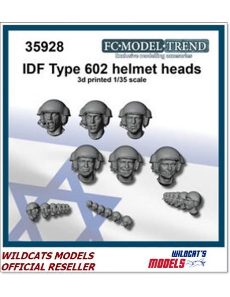 FC MODEL TREND 35928, IDF type 602 helmet heads set, 3d printed, 1/35