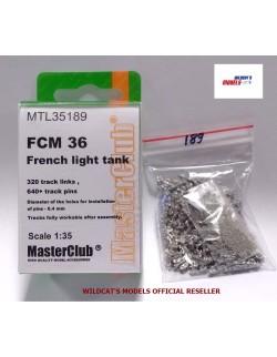 Metal Tracks for FRENCH LIGHT TANK FCM 36, MTL35189, MasterClub, 1:35